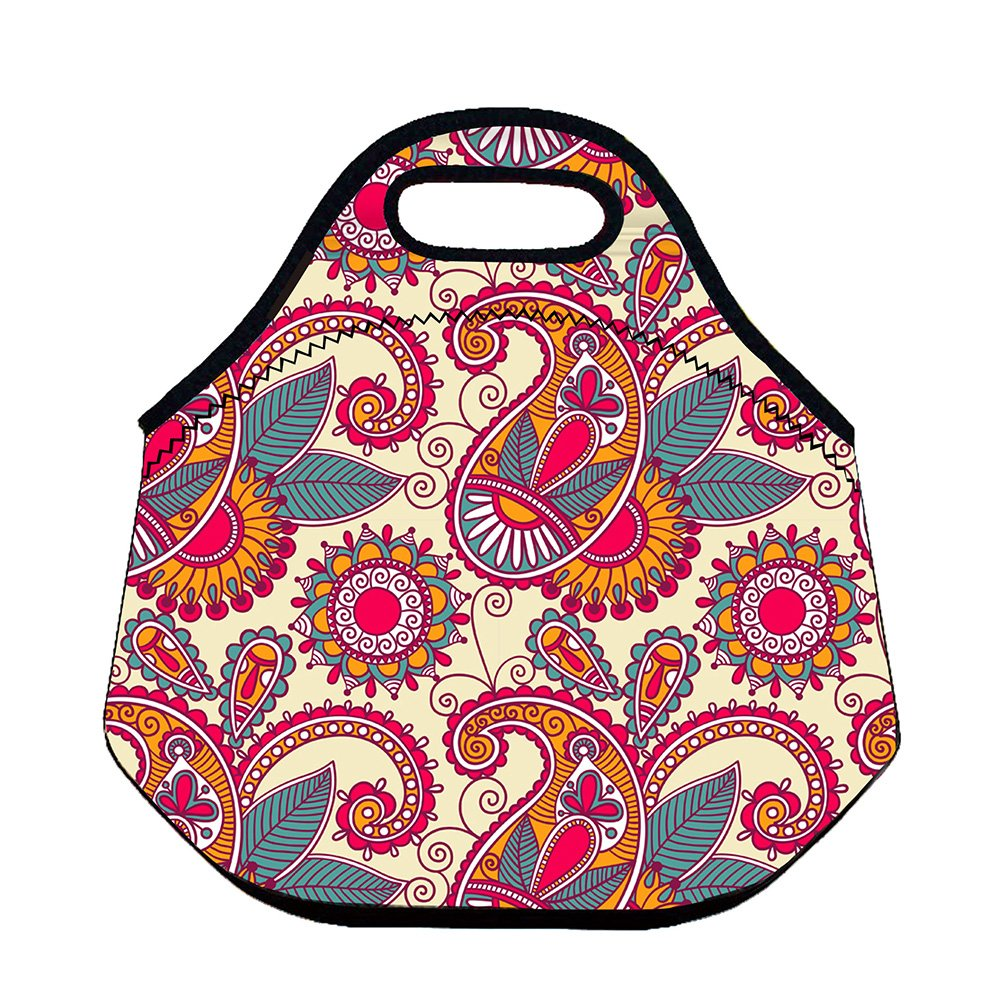 Butterfly 1 ParaCity Reusable Lunch Bag Insulated Lunch Boxes Recycled Insulated Thermal Cooler Storage Container Picnic Tote/for School Work Office Camping Travel Neoprene Lunch Tote