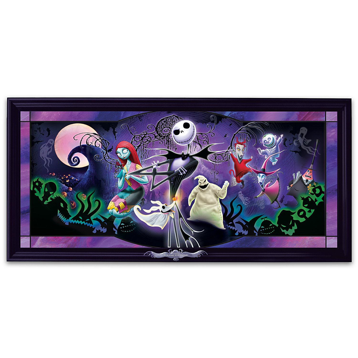 Disney Nightmare Before Christmas Stained Glass