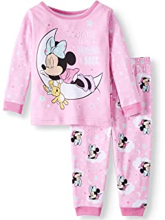 24 Months Disney Minnie Mouse Love You to The Moon and Back 2 Piece Sleepwear Pajama Set