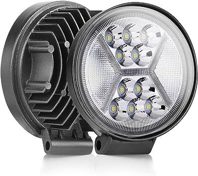 SWATOW 4x4 2Pcs 5 Inch 126W Round LED Work Light DRL Driving Lights CREE Spot Flood Combo Off Road Light Pods for Truck Jeep ATV UTV SUV LED Light Bar