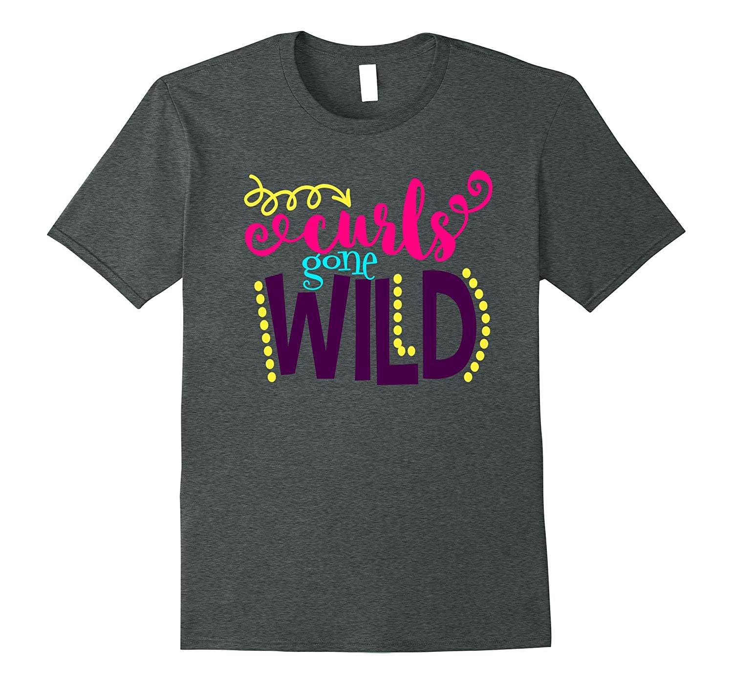 Funny Curly Hair Shirt Curls Gone Wild Daughter Girls Kids-Art