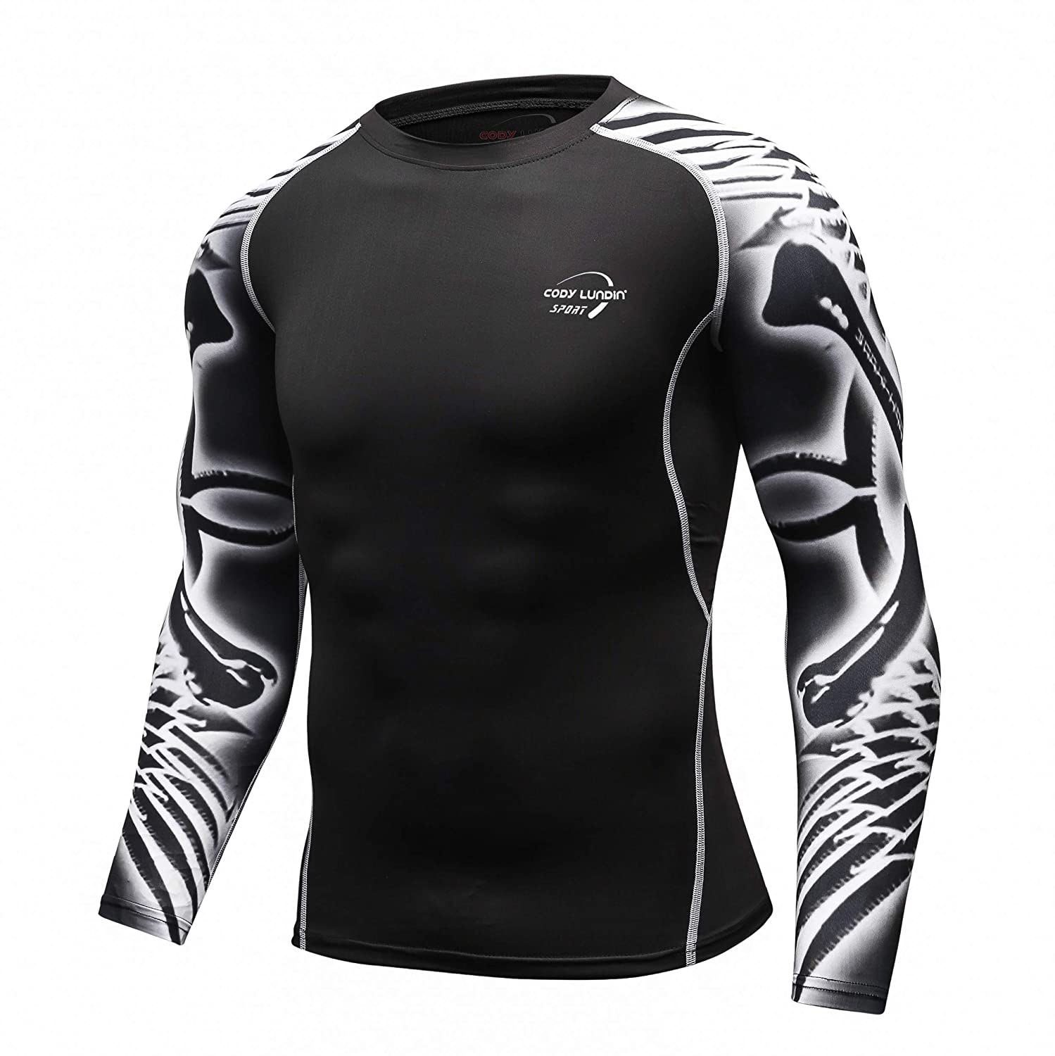 AOTORR Mens Athletic Compression Sport Baselayer Underlayer Long Sleeve Cool Dry Workout Shirt