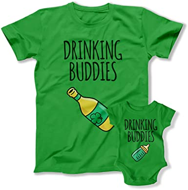 41aea280 Amazon.com: Drinking Buddies St. Patricks Day Matching Father Son Beer  Drinking Shirts for Dad Son St Pattys BER-71-72: Clothing