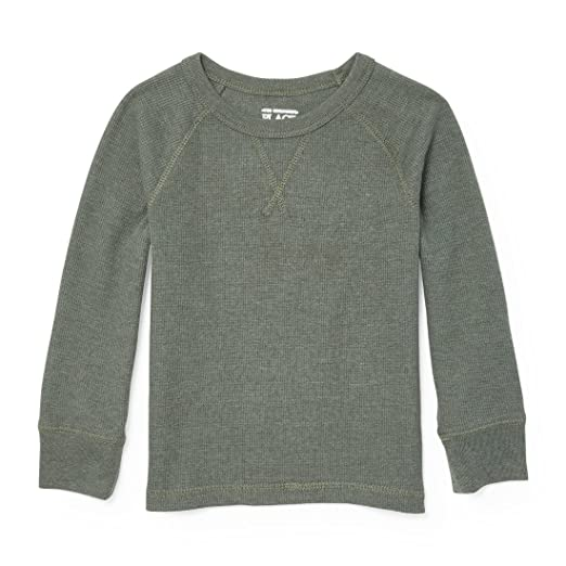b146fa2ff The Children's Place Baby Boys' Long Sleeve Tops, Green Agate 84739, 4T