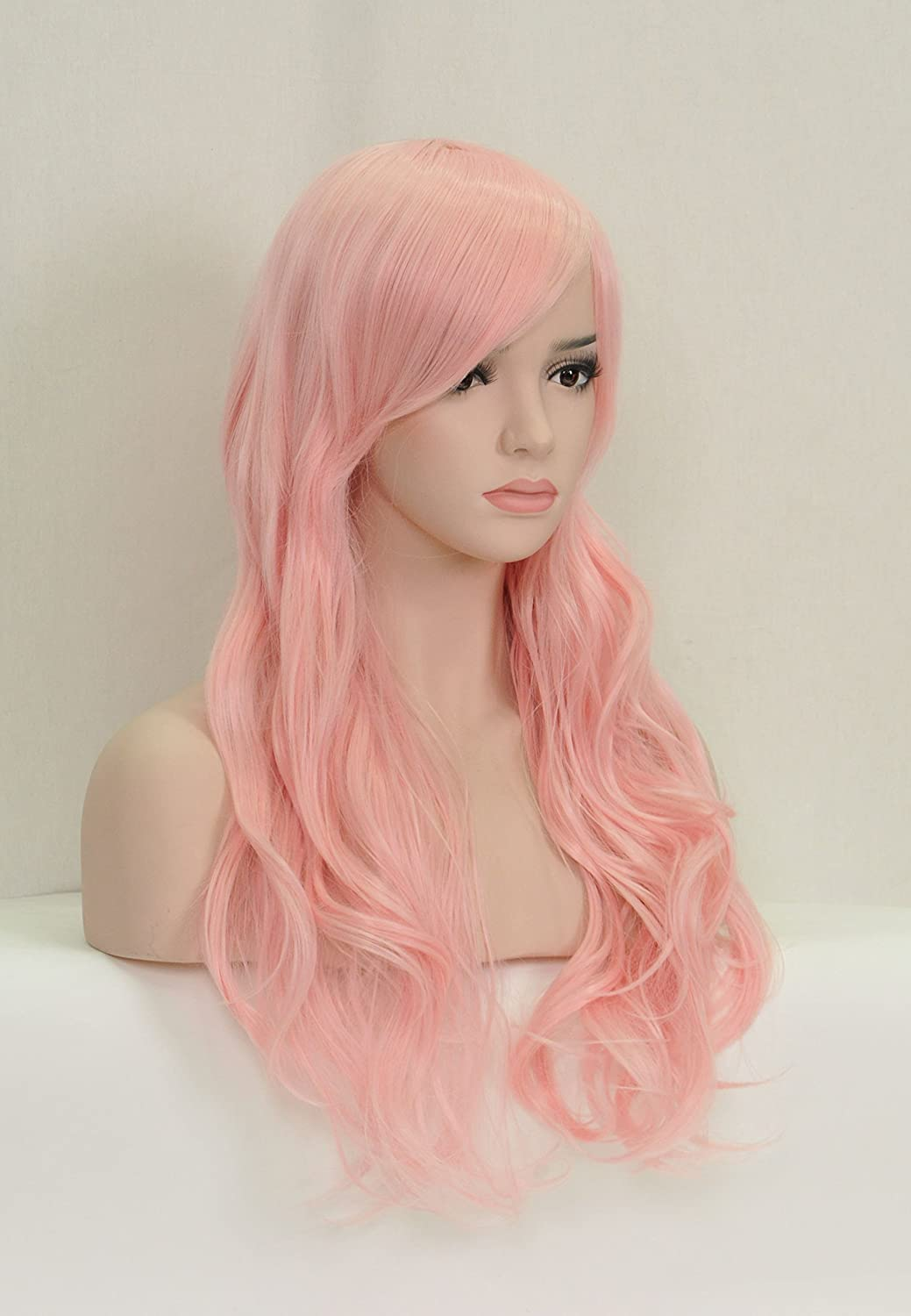 Beauty Smooth Hair Mujeres largo longitud lockiges hölle de color rosa pelo Perú esquina con Completo Pony Cosplay: Amazon.es: Belleza