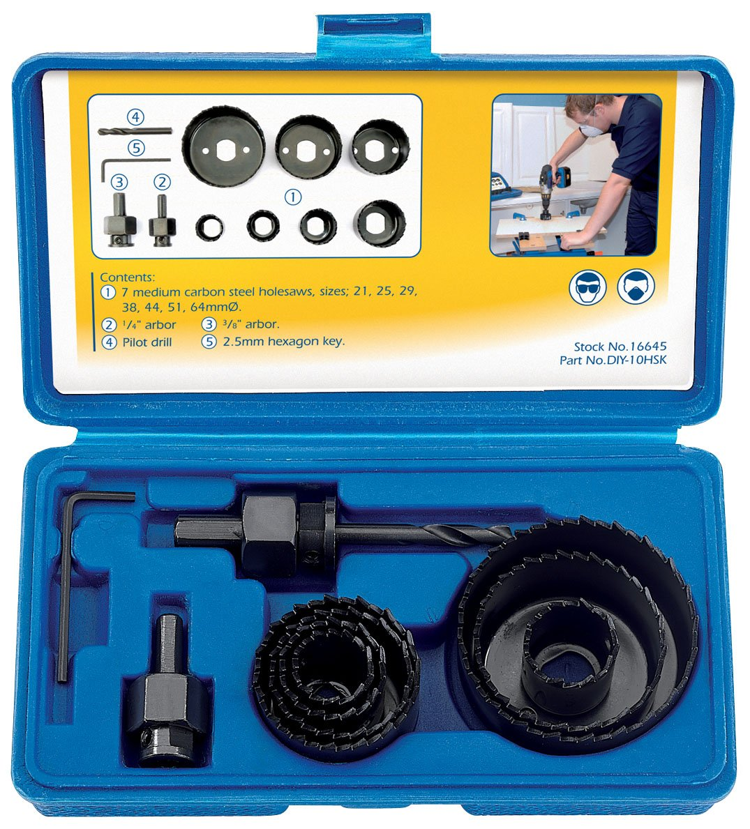 Draper Diy Series 16645 11 Piece Hole Saw Kit Tools Silverline Non Contact Ac Voltage Detector 140mm Electrical Tool