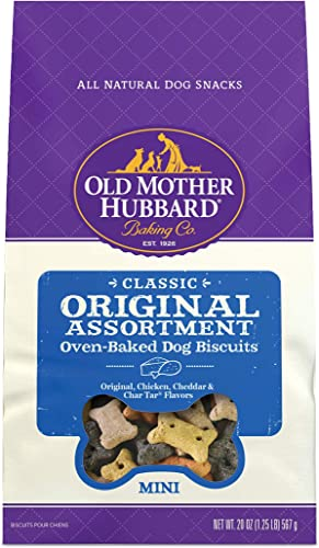 Old Mother Hubbard Classic Original Assortment Biscuits Baked Dog Treats, Mini, 20 Ounce Bag