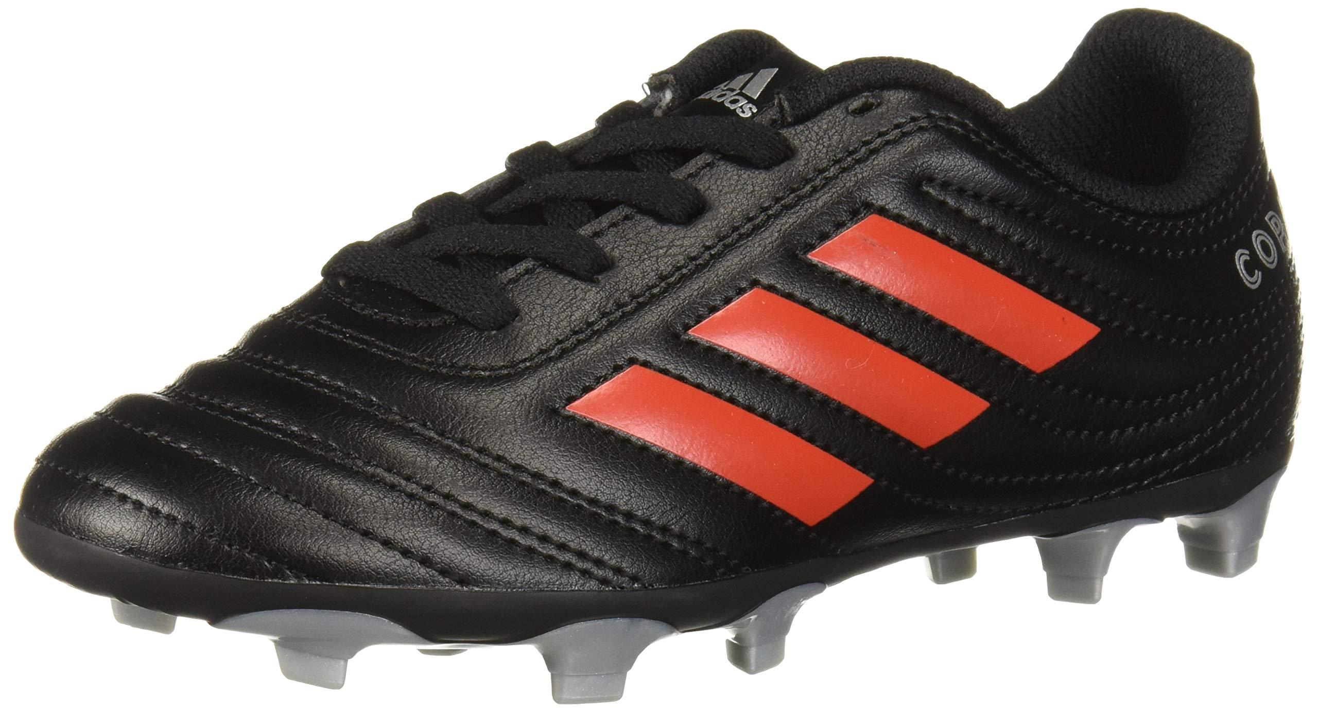 adidas Unisex Copa 19.4 Firm Ground Soccer Shoe Black/hi-res red/Silver Metallic 5.5 M US Big Kid