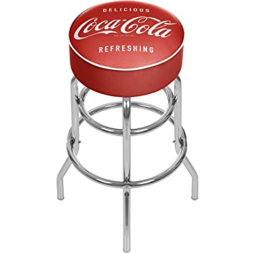 Coca Cola Delicious Refreshing Padded Swivel Bar Stool