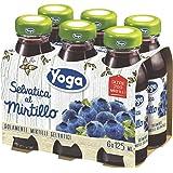Yoga - Selvatica al Mirtillo - 4 confezioni da 6 bottiglie da 125 ml [24 bottiglie, 3 l]