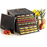 Excalibur 3926TB 9-Tray Electric Food Dehydrator with Temperature Settings and 26-hour Timer Automatic Shut Off for…