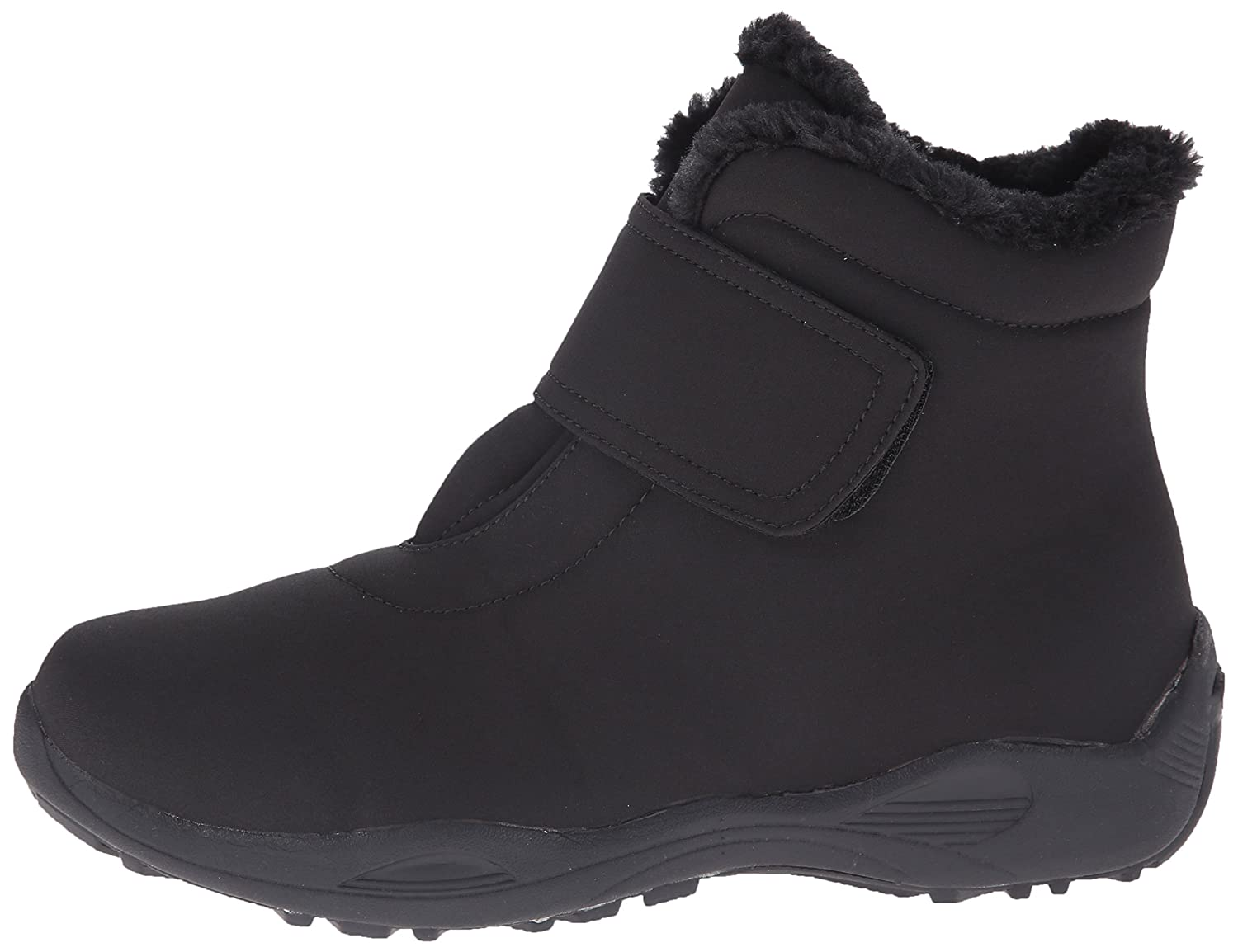 Propet Women's Madison Ankle Strap All Weather Boot B00T9WI74G 7 W US|Black