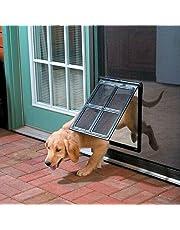 """Screen Doggie Door for Screen Door Pet Door for Screen Door Dog Door for Screen Door Automatic Lock 16""""x12"""" - Kailian"""