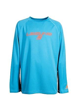 91cb489734 LAGUNA Boys Crewneck Long Sleeve Loose Fit Rashguard Swim Sun Tee Shirt,  UPF 50+