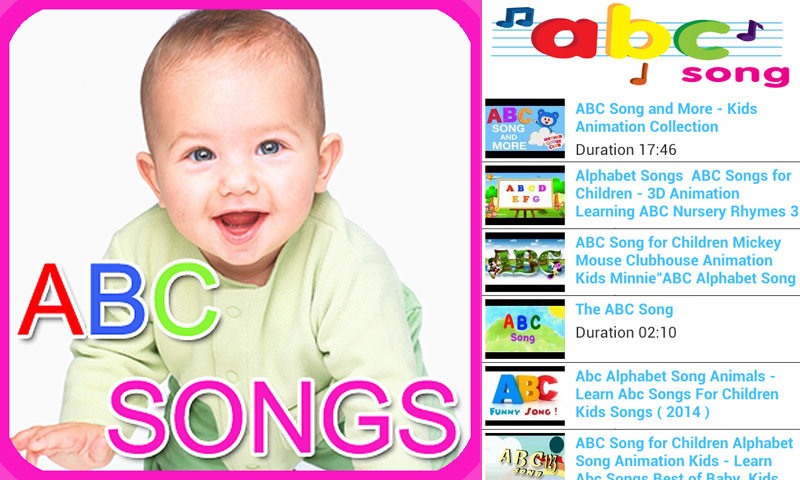 Amazon com: ABC SONGS: Appstore for Android
