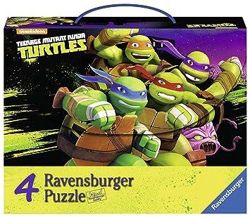 Tortugas Ninja - 4 Puzzles en Maleta (Ravensburger 07299 6)