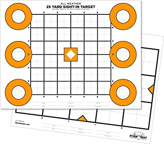 """product image for Rite In The Rain All Weather Zeroing Target, 25 and 100 Yard zeroing, 8.5"""" x 11"""", 2 Sided, 25 Pack (No. TG8511Z)"""