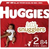 Diapers Size 2 - Huggies Little Snugglers Disposable Baby Diapers, 84ct, Giga Pack