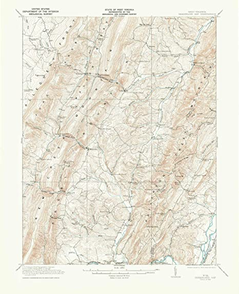 Amazon.com : YellowMaps Greenland Gap WV topo map, 1:62500 ...