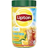 Lipton Iced Tea Mix, Diet Decaffeinated Lemon 10 qt (Pack of 4)