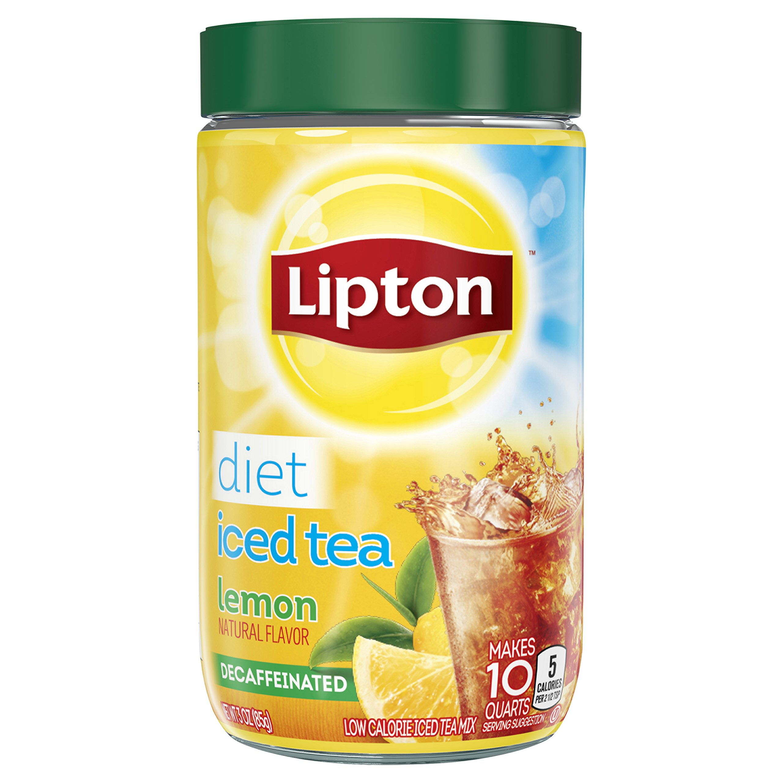 Lipton Iced Tea Mix, Diet Decaffeinated Lemon 10 qt (Pack of 4) by Lipton (Image #1)