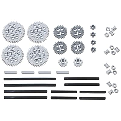 LEGO 44pc Technic gear & axle SET (Works with Mindstorms NXT, EV3, Bionicles and more LEGO creations!): Toys & Games