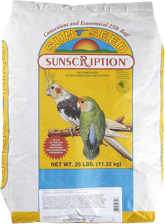 Sunseed 25 lbs Vita Cockatiel Food