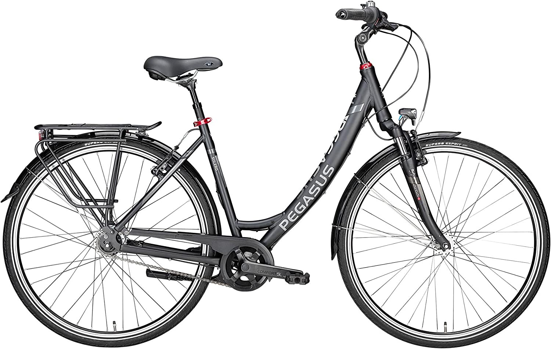 Pegasus bicicleta de trekking Solero SL 8 Mujer Negro 2018, tamaño ...