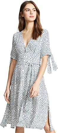 many fashionable low cost to buy Faithfull The Brand Women's Nina Midi Dress, Rae Floral Print Blue ...