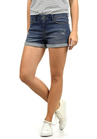 0452e07f8a9a4 BlendShe Andreja Women's Denim Jeans Shorts Stretch Relaxed-Fit