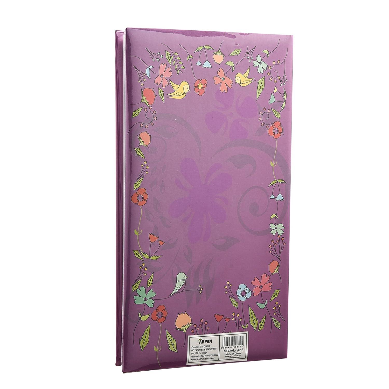 per foto da 10 x 15 cm Black Floral album per foto con 300 tasche Arpan