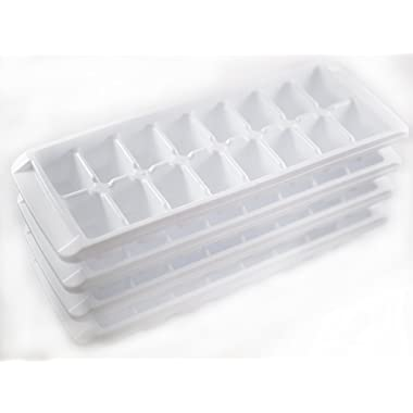 Kitch Easy Release White Ice Cube Tray, 16 Cube Trays (Pack of 4)