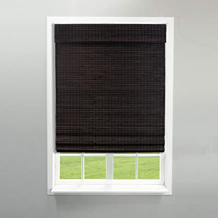 overstock roman shades chicology overstock radiance cordless cut to width espresso roman shade 1629 inches 21x64 amazoncom