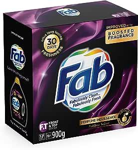 Fab Sublime Velvet Laundry Detergent Washing Powder, 900g