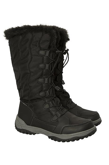 Mountain Warehouse Stivali Alti da Neve da Donna Snowbank - Impermeabili e  Altamente Traspiranti Nero 37 ed5826e3ebc