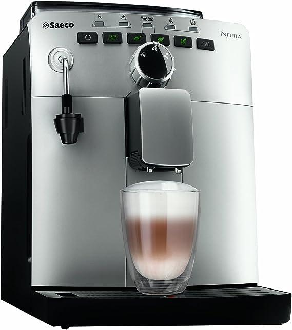 Saeco HD8750/81 Intuita - Cafetera automática (depósito de agua de 1,5 L), color plateado: Amazon.es: Hogar