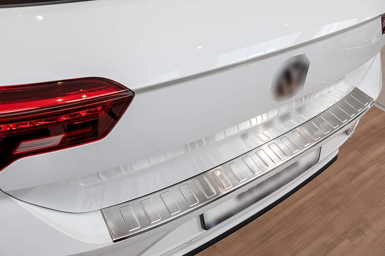 Aroba Ar1220 Br Edelstahl Gebürstet Ladekantenschutz Kompatibel Für T Roc Ab Bj 11 2017 Passgenau Mit Abkantung Farbe Silber Auto