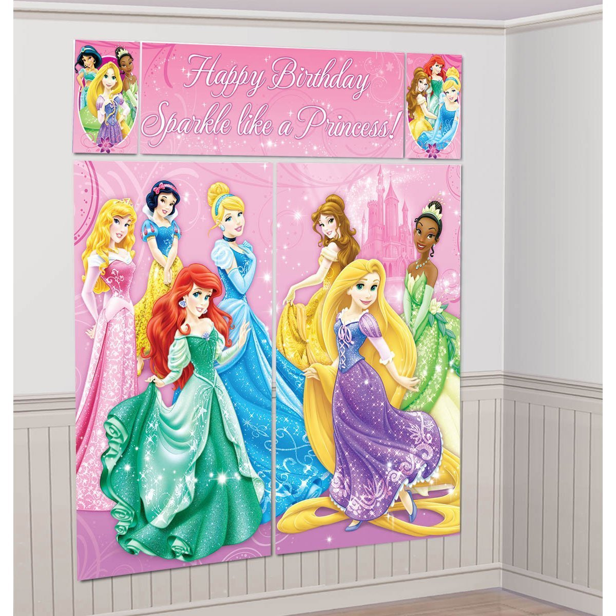 Disney Princess Scene Setter Wall Decorations Kit   Kids Birthday And Party  Supplies Decoration: Amazon.in: Toys U0026 Games
