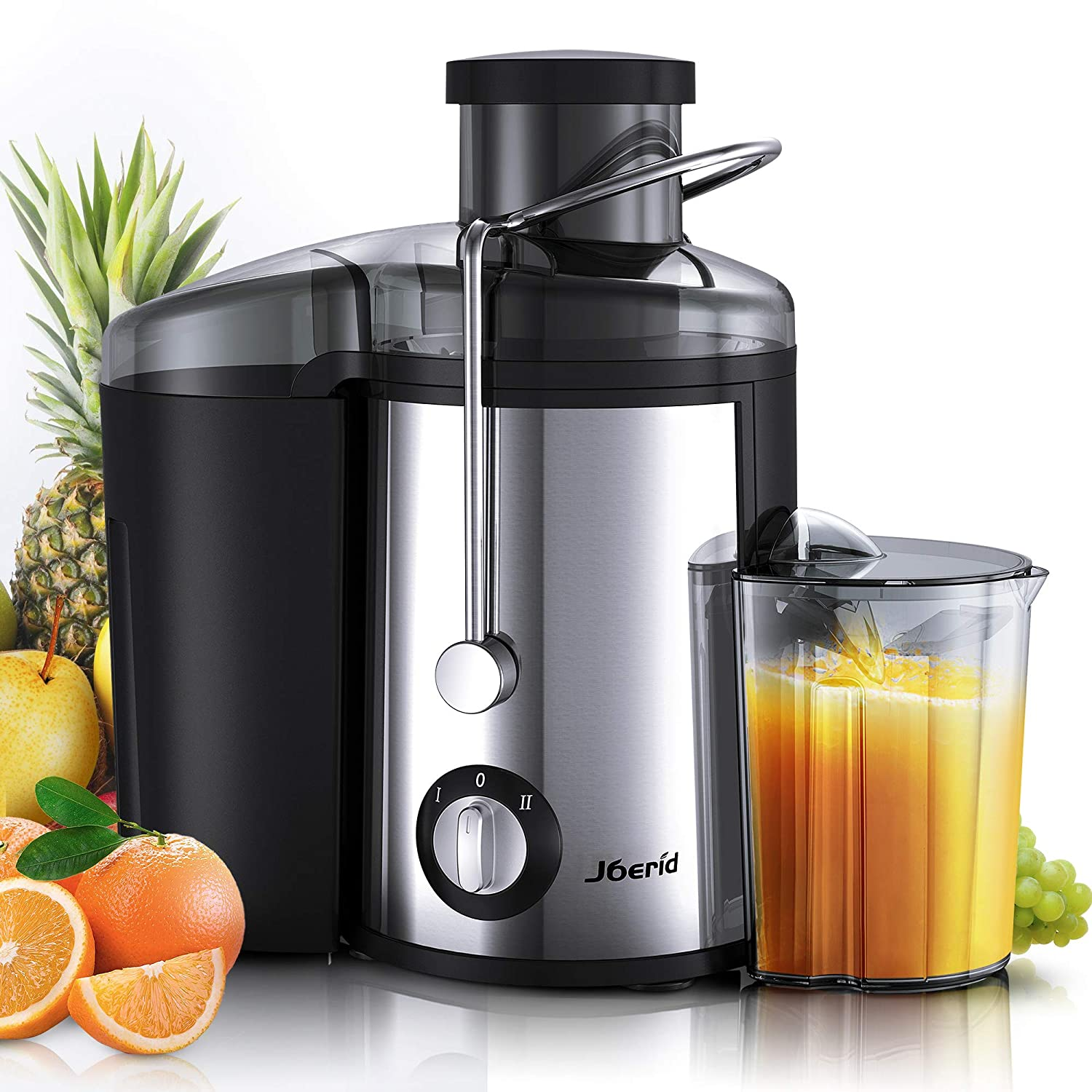 Joerid Juicer 2019 Upgrade Centrifugal Juicer Machine Juice Extractor With Spout Adjustable Lighter Powerful Easy To Clean Bpa Free