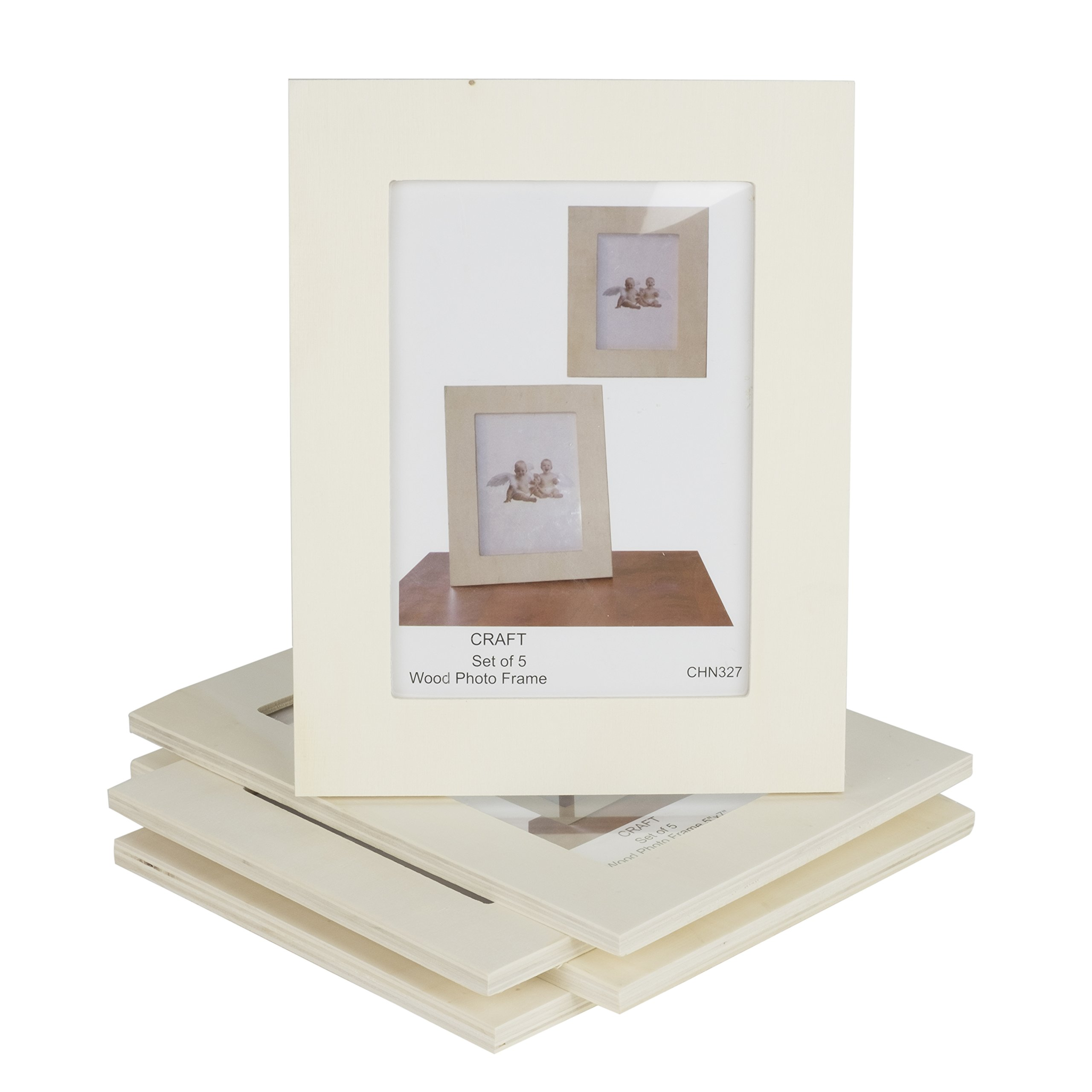 Unfinished Solid Wood Photo Picture Frames 5x7 Inch Ready to Pa ...