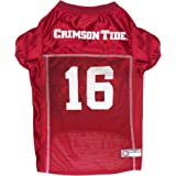 new styles ad5f0 8cb50 Amazon.com : Pets First NCAA ALABAMA CRIMSON TIDE Pet Jersey ...