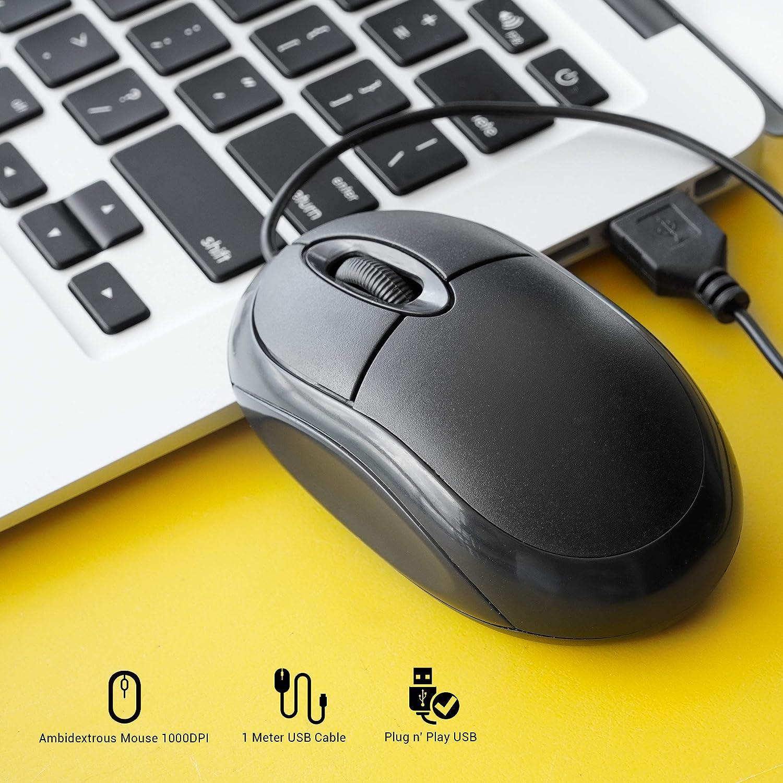 PC//MAC Dynamode ina-67/ina-67s PC mouse ottico con cavo USB 2/modi