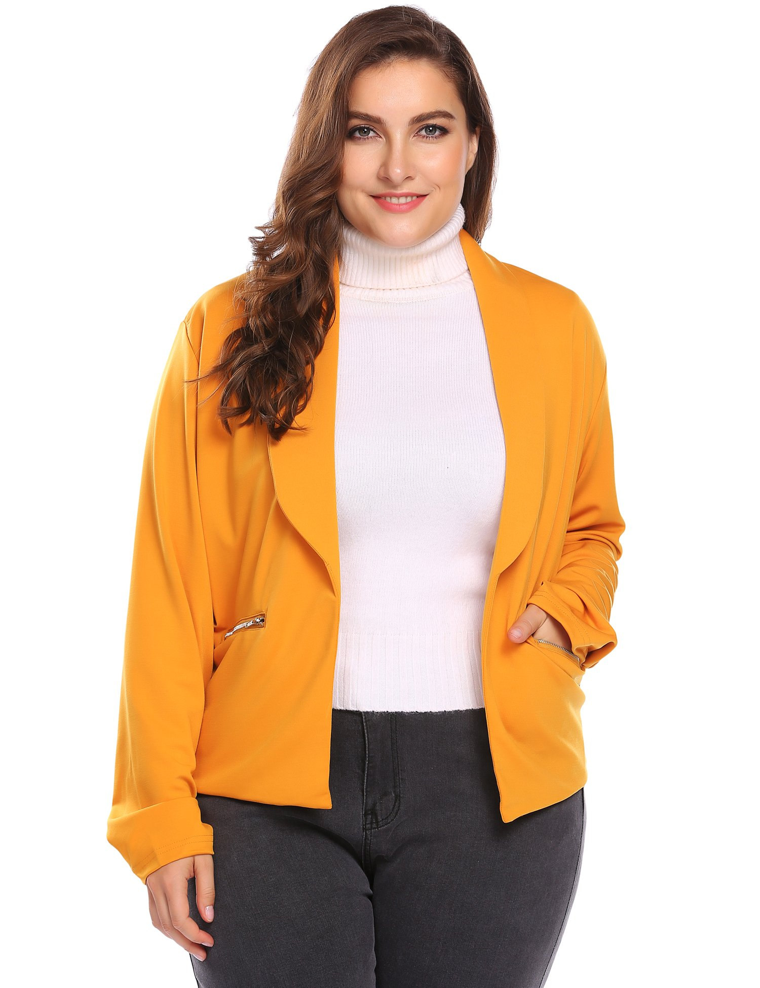 7ac48918cce83 Womens Classic 3 4 Sleeve Knit Open Front Cropped Cardigan (16W ...