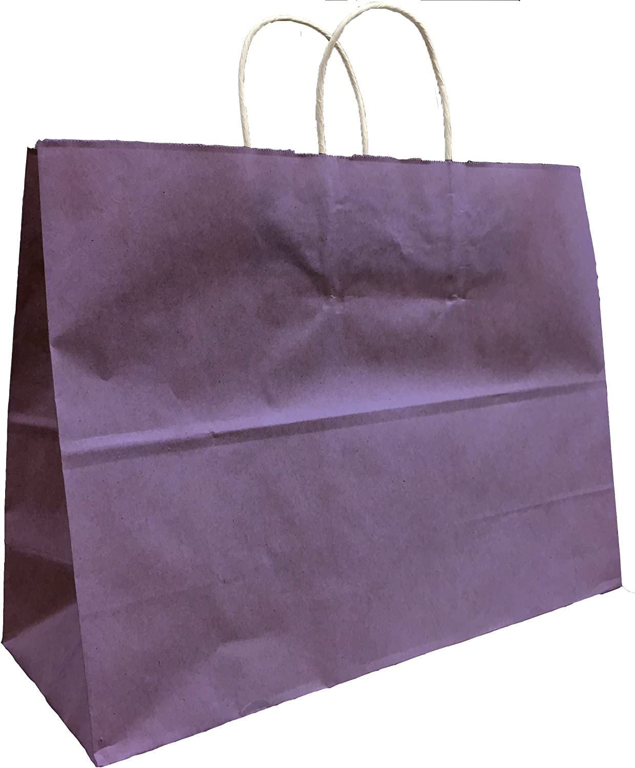 Vogue Size 16W x 12H x 6 Extra Large Kraft Paper Gift Wrap Shopping Bags, Made in USA 25 Bags Pink Bags