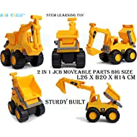 Non Toxic™ Role Play JCB Toys Extended Assortment School Project Small & Big Size Now with Moveable Parts (Dig & Dump)