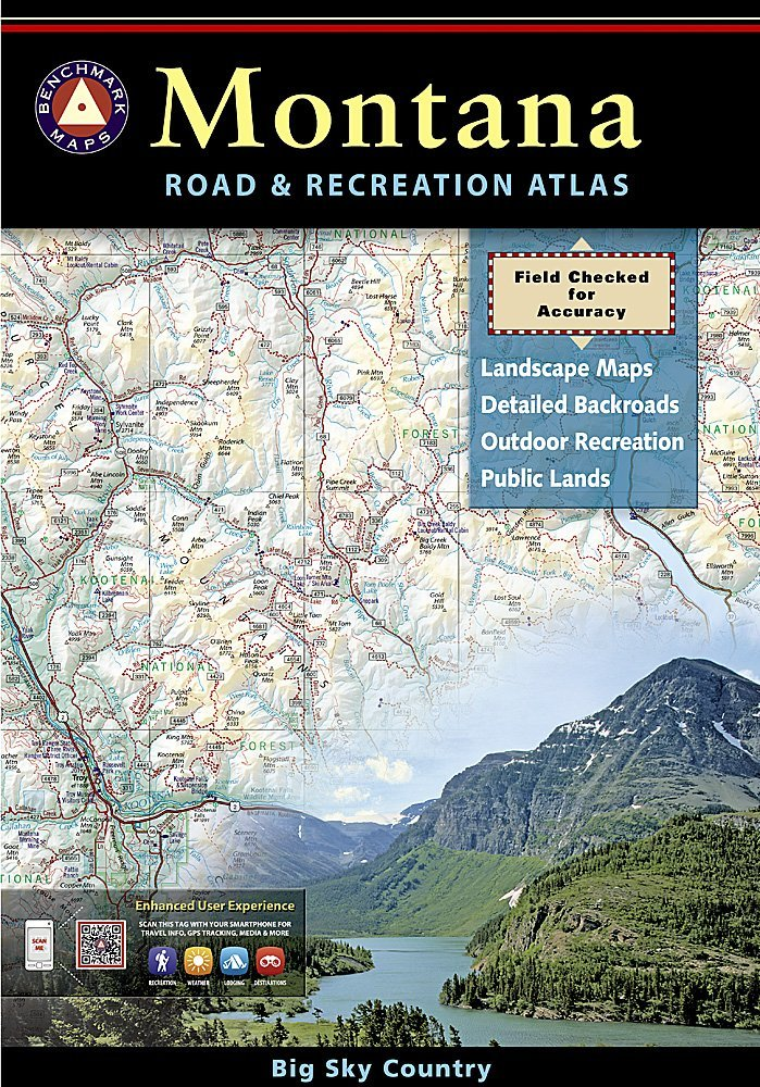 Montana Road and Recreation Atlas: Benchmark Maps (Firm ...