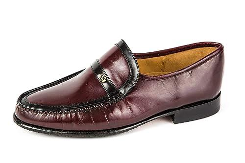 Barker MH11-218 - Mocasines de Piel Lisa Para Hombre Rojo Rojo 40 EU, Color Rojo, Talla 40.5 EU: Amazon.es: Zapatos y complementos