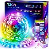 50ft Smart Led Strip Lights for Bedroom,Led Lights Alexa Compatible,Color Changing RGB 5050 Sync Music Led Light Strips,App/R