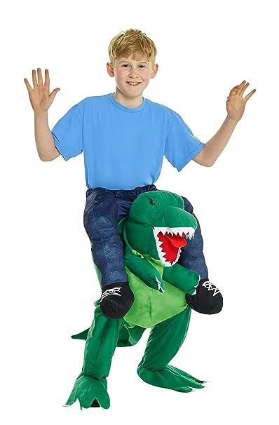 ef732d03831a Amazon.com  Kids Piggyback Dinosaur Costume Ride On T-Rex Childs ...