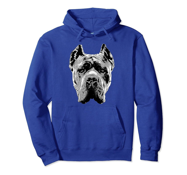 Cane Corso Hoodie Pullover Shirt Italian Mastiff Head Dog-AZP